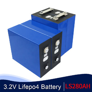 Brand New 12V LiFePO4 3.2V  Solar, Electric Car Rechargeable Battery 280AH  4PCS