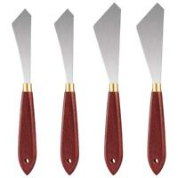 1X(4Pcs Painting Knife Set Painting Mixing Scraper Stainless Steel Palette E5U1)