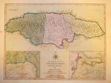 JAMAICA FROM THE LATEST SURVEYS..BY THOMAS JEFFERYS 1810.