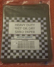 (40) 1/4 SHEETS SANDPAPER FINE 400 GRIT WET DRY SAND PAPER