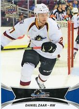16/17 UPPER DECK AHL #17 DANIEL ZAAR CLEVELAND MONSTERS *30938