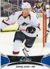 16/17 UPPER DECK AHL #17 DANIEL ZAAR CLEVELAND MONSTERS *30938