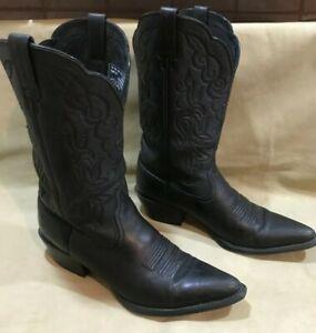 ARIAT Black Leather Cowboy Western Boots 15771 Men's Size 9.5B
