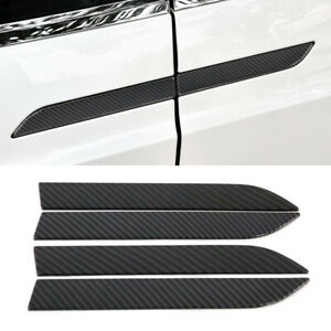 For Tesla Model X 2016-2019 Carbon Fiber Color Side Door Handle Stripe Trim 4pcs