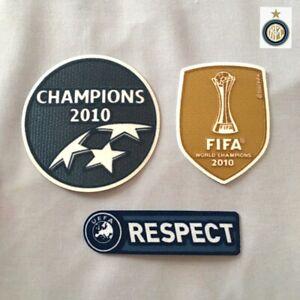 Inter Milan Champions 2010 + FIFA World CHAMPIONS 2010 + RESPECT Patch Badge Set