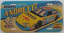 1990's NASCAR JOHN ANDRETTI #43 CHEERIOS RACING PLASTIC BOOSTER License Plate