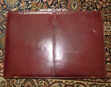 Burgundy Leather Drop Handle Briefcase NEW!!