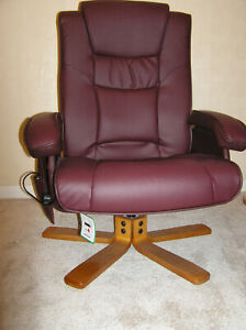 Chalford Bonded Leather Heat & Massage Swivel Electric Recliner Chair