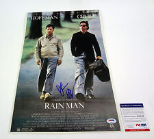 DUSTIN HOFFMAN RAIN MAN SIGNED AUTOGRAPH MOVIE POSTER PSA/DNA COA