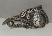 """Celtic RAVEN BELT Buckle Dryad Design Morrigan Crow Pewter Buckle fits 1.5"""" belt"""