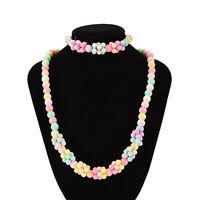 1 Set Girls Necklace Bracelet Set Fashion Charm Necklace Kids Multicolor gau