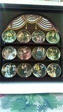 "1995 Gone With The Wind Mini Plates W/ Wood Display ""Golden Memories"" Bradford"