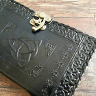 """9"""" Leather Diary Triquetra Knot Design Leather Journal Notebook Book Of Shadow"""