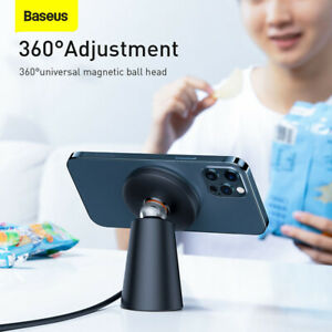 Baseus Magnetic Fast Wireless Charger Charging Stand Dock For iPhone 13 Pro Max
