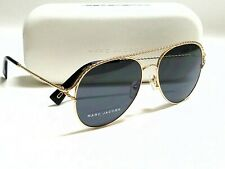 Authentic Marc Jacobs MARC 168/S RHL/IR Gold/Grey Lens 58mm Aviator Sunglasses