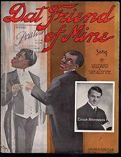 Dat Friend of Mine 1908 Large Format Edgar Atchinson Sheet Music