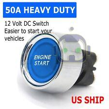 12 Volt Dc Led Light Heavy Duty Momentary Push Button Starter Switch 50 Amps