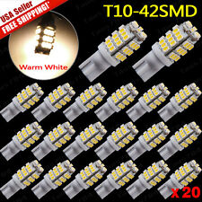20X Warm White T10 42SMD Car Camper Trailer 12V LED Interior Lights 194 168