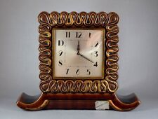 FRENCH CERAMIC LE POET LAVAL 8 DAY MANTEL CLOCK c1950