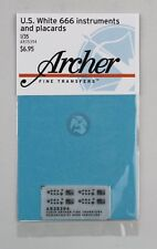 Archer 1/35 US White 666 Cargo Truck Instruments & Placards (Hobby Boss) AR35394