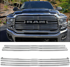 Chrome Grille Overlay (7 PCS) FITS 2019-2021 Dodge RAM 2500 3500 w/ 7-bar grill