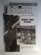 VINTAGE EBAL BATMAN & ROBIN # 93 PHOTO BRAZILIAN COVER 16.5 x11.75 CHECKERED TOP