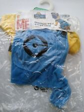 Minion Dog Costume Funny Pet Outfit Halloween Fancy Dress Size Small
