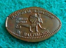 National Aquarium elongated penny MD USA cent Frilled Lizard souvenir coin