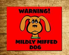 Funny Personalised Dog Warning Sign - Ideal Dog owners Gift