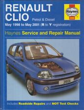RENAULT CLIO 1.2 1.4 1.6 PETROL & 1.9 DIESEL (1998-2001) REPAIR MANUAL * VGC *