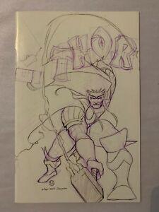 Thor #6 Virgin Peach Momoko Sketch 337 Beta Ray Bill Homage NM