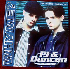 "PJ & DUNCAN ANT & DEC SIGNED 7"" SINGLE SLEEVE WHY ME? (1994) EX"