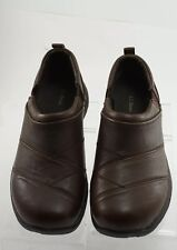 LL Bean Womens Brown Leather Slip On Comfort Walking Loafer Shoes Size 6.5W
