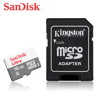 SanDisk Ultra New 16GB microSD SDHC Flash Memory Card 80MBs C10 + ADAPTER