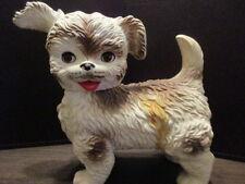 VINTAGE EDWARD MOBLEY ARROW PLASTICS SQUEAKY TOY DOG WITH SLEEPY EYES