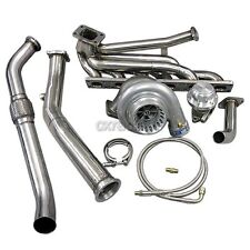 Top Mount T3 GT35 Turbo Kit Manifold Downpipe For 92-98 BMW E36 325i 328i