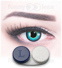 Colored blue Fun Contact Lenses Seraphin Contacts Color for Carnival Halloween