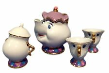 Beauty and the Beast Mrs. Potts and Chip Tea Set Tokyo Disney Resort Limited EMS