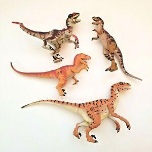 Vintage JURASSIC PARK Dinosaur Lot of 4 Baby T-Rex JP42 Velociraptor JP10 JP18