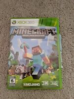 Minecraft (Microsoft Xbox 360, 2013) game disc and case