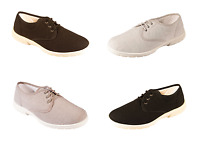 Men's DB Shoes Troon Lace Up Extra Wide Canvas Summer Shoes Width 4E / 6E