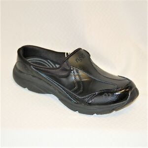 Ryka Tranquil SR Black Leather Walking Clog/Mule Slip Resistant soles mediums