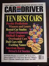 Car & Driver Magazine January 1994 Ten Best Cars (Y) (RR) AU
