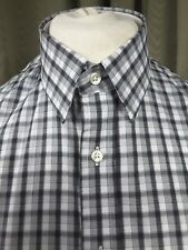 "Thomas Pink The Twin Collection Grey Check Fitted Shirt 15.5""/39cm  C38"
