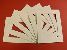 100 SOFT WHITE PICTURE MOUNTS 12 x 10 for 8 x 6