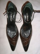 L.K.Bennett UK 3.5 EU 36.5  Leather Brown / Black  Shoes RRP £ 139.00