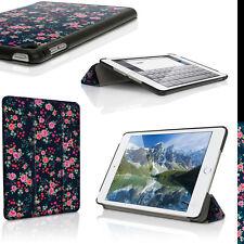 Blumen PU Leder Smart Cover für Apple iPad Mini 4. Generation Tasche Hülle Case