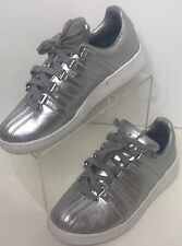 K-SWISS Women's Size 8.5 Silver Leather Sneakers Classic Tennis Shoes Vintage