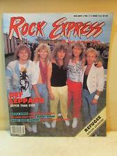 1987 #116 Aug. / Sept. Vol.Ii Rock Express Magazine Def Leppard