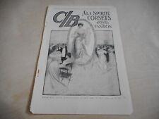 early 1900s MAGAZINE AD #A4-129 - ALA SPIRITE CORSETS